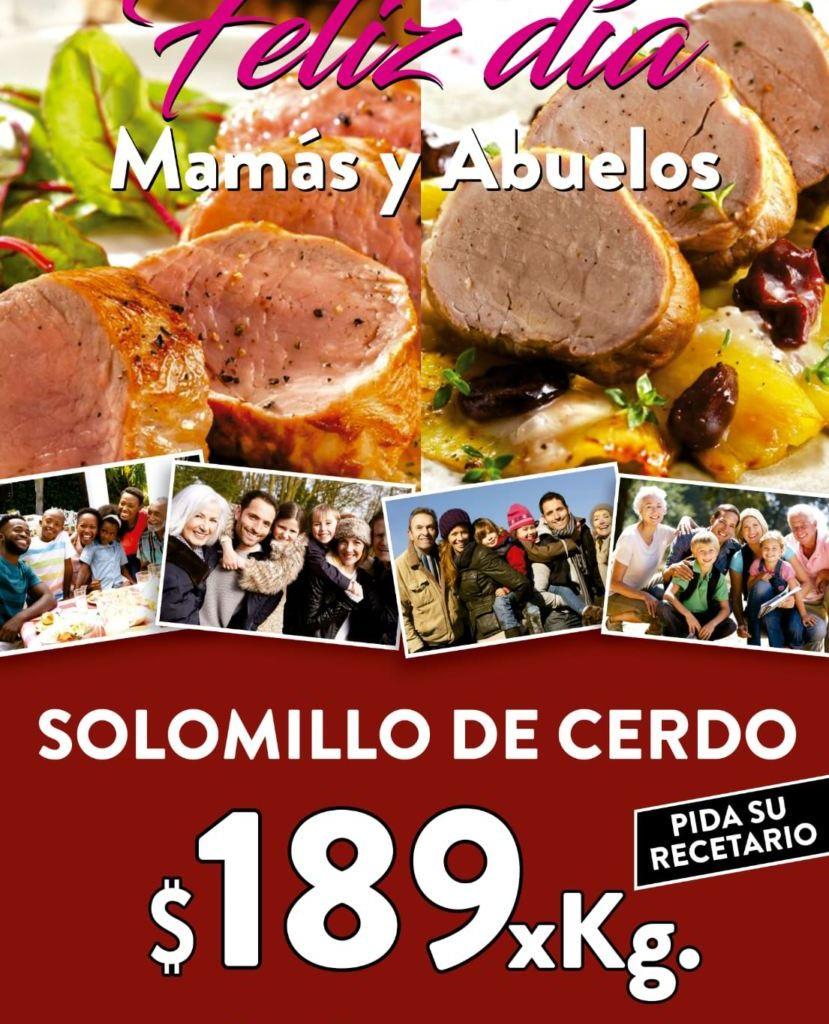 Promoción Día Mamá y Abuelos: Solomillo de cerdo y recetario